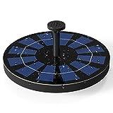 Ankway 2.5W Pompe de Fontaine Solaire avec batterie secours intégrée (2019), Kit de Pompe à eau alimentée à l'énergie solaire extérieure pour Bain d'oiseau, Étang, piscine, Patio, Décoration de jardin
