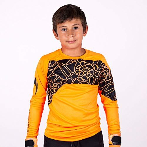 HO Soccer Jersey Furious Camiseta De Portero, Unisex niños, Naranja/Negro, 14