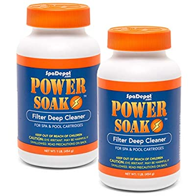 2-Pack Power Soak Spa & Pool Filter Cartridge Cleaner - 2 x 1 lb. bottles