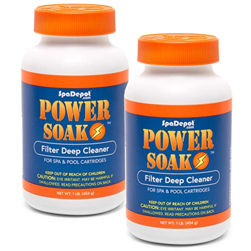 2-Pack Power Soak Spa & Pool Filter Cartridge Cleaner - 2 x 1 lb. bottles