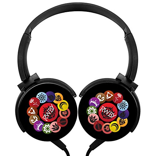Rotation Axis Design Wired Headset RW-by Ruby Rose Stereo Headphone