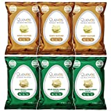 Quevos Keto Fan Favorites 6 Pack - Sour Cream & Onion, Honey Mustard - Low Carb Egg White Chips - Crunchy, High Protein, Keto Snacks - Gluten Free Snack, Grain Free, High Fiber - 1 oz Bags (Pack of 6)