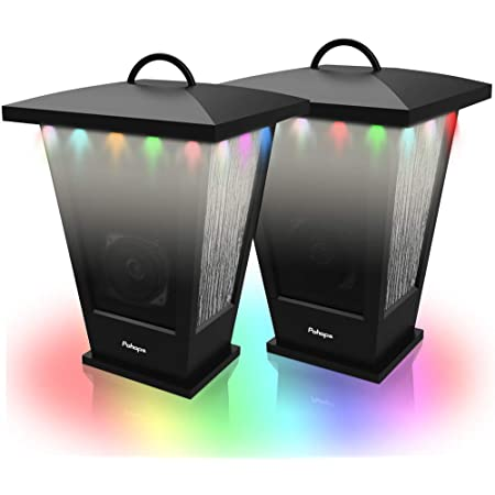Bluetooth Speaker Waterproof Portable Outdoor Wireless Speaker With Led Strip Lights Around Support 2 Or More Speakers 5 8ghz Pairing Sync Shared Audio Lantern Design Black Pohopa Electronics