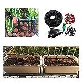 Yangxuelian Sistema de riego de Jardín Micro Goteo Sistema de riego automático del jardín Planta 25m Kit de riego de Agua para Patio Planta Jardín (Color : Black, Size : Sets)