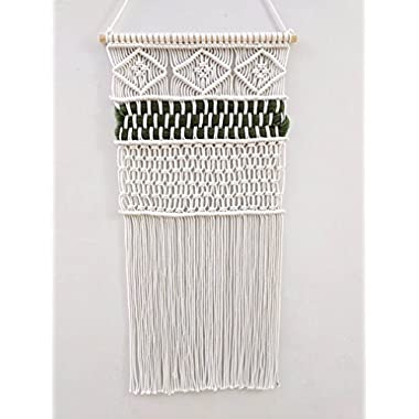 HERMOSO Handmade Macrame Wall Hanging -woven wall hanging -macrame tapestry -100% Natural Cotton Cord, 16  W X 36  L.Decoration For The Living Room Kitchen Bedroom