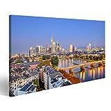 bilderfelix® Bild auf Leinwand Frankfurt Deutschland