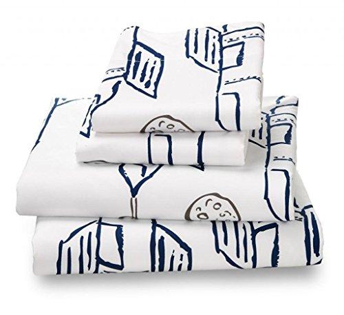 Where the Polka Dots Roam Full Size Bed Sheets Rocket/Plane Print 4 Piece Set ? Unisex, Flexible Microfiber, Durable, Wrinkle-Resistant, Stain-Resistant Bedding ? Boys, Girls, Baby, Kids, Toddler Teen