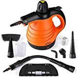 Steam Cleaner Handheld for Home Use with 9 Accessories Kit, Steam Cleaner Multipurpose for Carpet, Sofa with 350ML Water Capacity, Powerful Steam Cleaner Machine with Safety Lock and 360° Nozzle