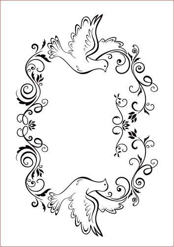 Darice reliëffolder sjabloon, frame, duiven-A4, plastic, transparant, 29.7 x 21 x 0.3 cm