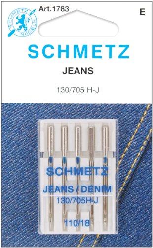Euro-Notions Agujas para máquina Jean y Denim, no aplicable, Multicolor, 9.39 x 6.85 x 0.25 cm