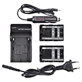 DSTE® 2 Pack NP-FM500H Battery + Travel Charger Compatible con Sony Alpha SLT-A57 A58 A65 A65V A77V A99 CLM-V55 DSLR-A100 A200 A300 A350 A450 A500 A550 A560 A580 A700 A850 A900 Digital Cameras