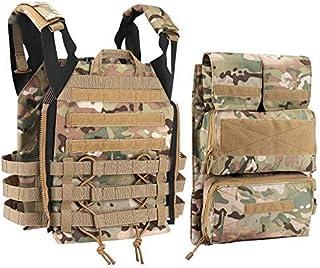 Tactical Vest + Backpack/Modular Vest + Backpack/Breathable Combat Training Vest Adjustable Lightweight