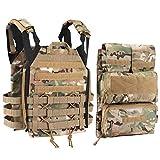 Tactical Vest + Backpack/Modular Vest + Backpack/Breathable Combat Training Vest Adjustable Lightweight (2CP)