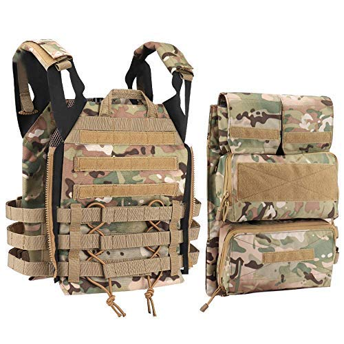 Tactical Vest + Backpack/Modular Vest + Backpack/Breathable Combat Training Vest Adjustable Lightweight (2CP)