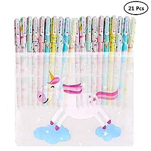 Yuccer Bolígrafos de Unicornio para Niñas Estuche Unicornio Niña Escolar Flamencos Bolígrafos para Suministros Escolares…