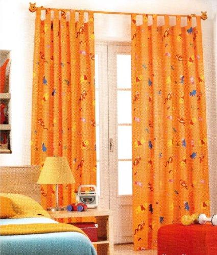 Disney - Tenda con passanti, 1 pezzo, XXL, 290 x 140 cm, colore: Arancione