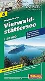 Vierwaldstättersee Wanderkarte Nr. 4, 1:50 000: Luzern, Pilatus, Rigi, Leewenalp, Weg der Schweiz (Hallwag Wanderkarten)