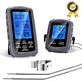 Remote Digital BBQ Wireless Meat Thermometer, Kitchen Cooking Food Thermometer with Dual Probes for Grilling Oven Kitchen Smoker, Instant Read Meat Thermometer Monitors Food 230 FT Range