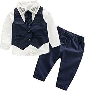 JKTOWN ボーイズ 男の子 スーツ シャツ ズボン ベスト 3点セット キッズ 入学式 入園式 発表会 結婚式 七五三 撮影 フォーマル