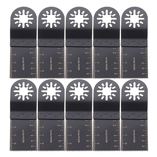 MASUNN Sägeblatt Multitool Oscillator 10Pcs 35Mm für Fein Multimaster Bosch Makita