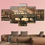 JJJKK Bilder Florenz mit dem Fluss und Ponte Vecchio in