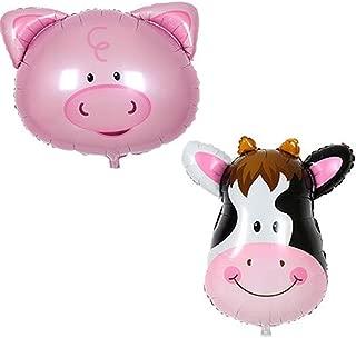 Vanvene Barn Farm Animals Birthday Party Baby Shower Decorations Supplies (Pig&Cow)