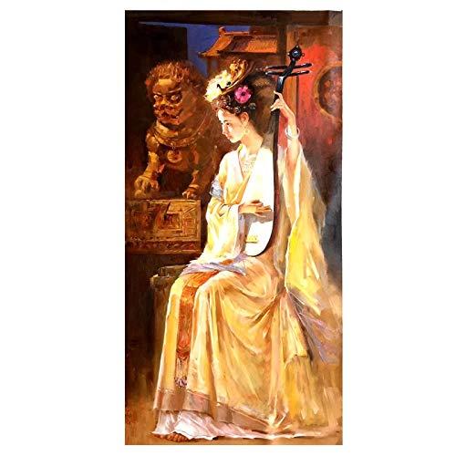 JHGJHK Arte clásico Femenino Pintura al óleo sin Marco Pin