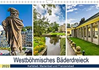 Westboehmisches Baederdreieck - Karlsbad, Marienbad und Franzensbad (Wandkalender 2022 DIN A4 quer): Charmante Kurorte zum Entspannen (Monatskalender, 14 Seiten )