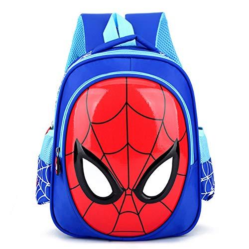 Sac à Dos Enfant Yuan Ou 3-6 Ans 3D Cartable Enfants Spiderman Cartable Enfants Sac à Dos Sac à Dos étanche 31 * 12 * 25 cm Bleu