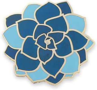 blue enamel pin