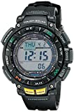 Casio Men's PRO TREK Stainless Steel Quartz Watch with Resin Strap, Black, (Model: PAG-240-1CR)