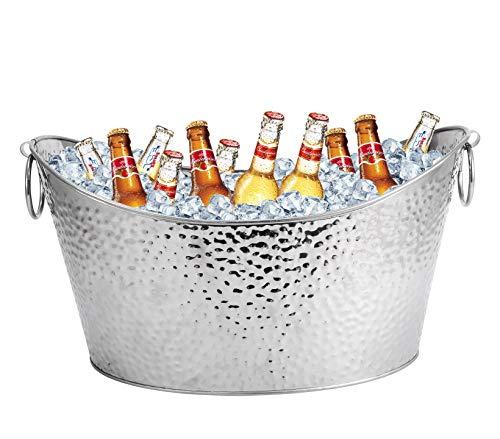 Secchio da birra in acciaio inox, grande secchiello per il ghiaccio per famiglie, feste, barbecue, bar, club 12 l