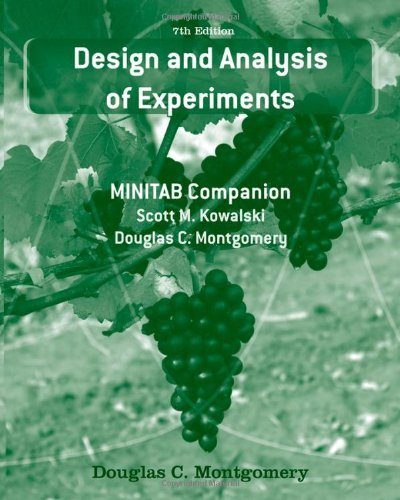 Design and Analysis of Experiments: MINITAB Companion by Douglas C. Montgomery (2010-04-27)