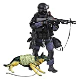 YEIBOBO ! Highly Detail Special Forces 12inch Action Figure SWAT Team - ASSUALTER and Police Dog