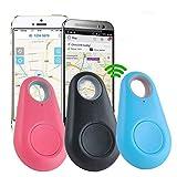 Anti-Loss Smart Finder,3Pieces Mini Portable Wireless Bluetooth 4.0 GPS Locator Pet Tracker Alarm Sensor Child Pet Bag Wallet Key Finder Alarm Tag