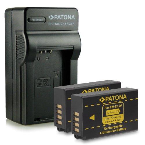 M&L Mobiles | Novedad - 4in1 Cargador + 2x Batería como EN-EL20 ENEL20 con Infochip · 100% compatible con Nikon 1 J1
