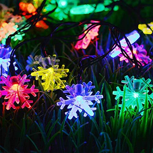 Light Solar Lichtsnoer met 20 leds, bloemen voor feestjes, tuin, Kerstmis, Halloween, bruiloft, decoratieve verlichting binnen en buiten, waterdicht, 4,8 m, meerkleurig