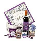 Ducs de Gascogne - Coffret gourmand 'Le délicieux' - comprend 6 produits dont un bloc de foie gras et un vin rouge - spécial cadeau (946536)