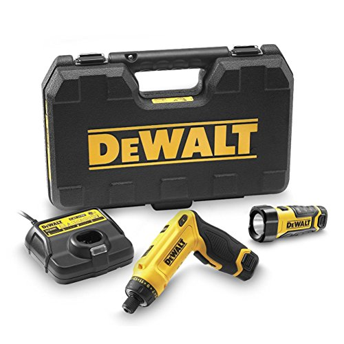DeWalt DCF680G2F Cordless Screwdriver (7.2 V, 1.0 Ah, 1/4 Inch Hexagon Socket, Clockwise / Anti-clockwise rotation, Two Position Handle (Pistol Grip and Rod Grip), 16 Stage Torque, Includes Accessories and Carry Case)