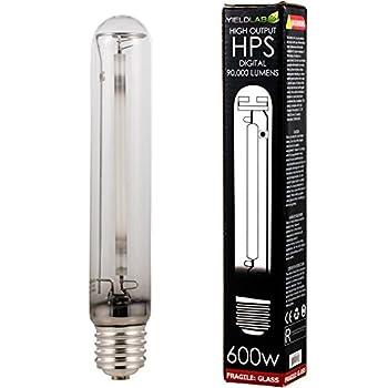 Yield Lab 600w High Pressure Sodium  HPS  Digital HID Grow Light Bulb  2100K  – 1 Bulb – Hydroponic Aeroponic Horticulture Growing Equipment