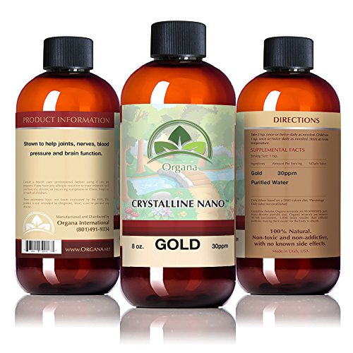 The Best Nano Colloidal Gold Mineral - 30 Parts Per Million - Colloidal Minerals - BPA Free Bottle