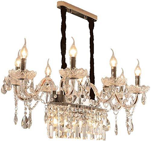 Kristallen plafondlamp, 8 armen, kristallen kroonluchter, kristallen kogelhanger, kroonluchter, voor slaapkamer hotel, woonkamer, studieruimte