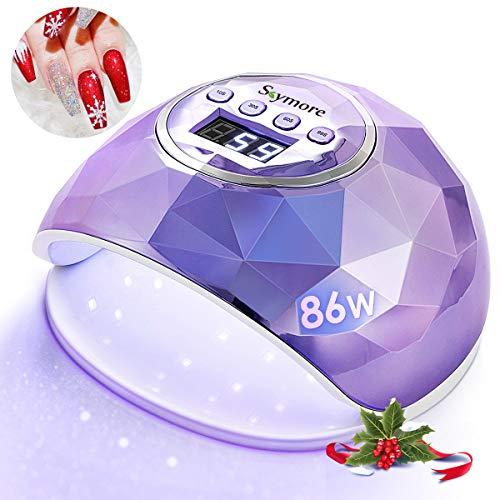 Skymore 86W lampada unghie UV LED Professionale lampada a LED UV per Manicure/Pedicure, 4 Timer da 10/30/60/99S Timer Display LCD Lampada (porpora)