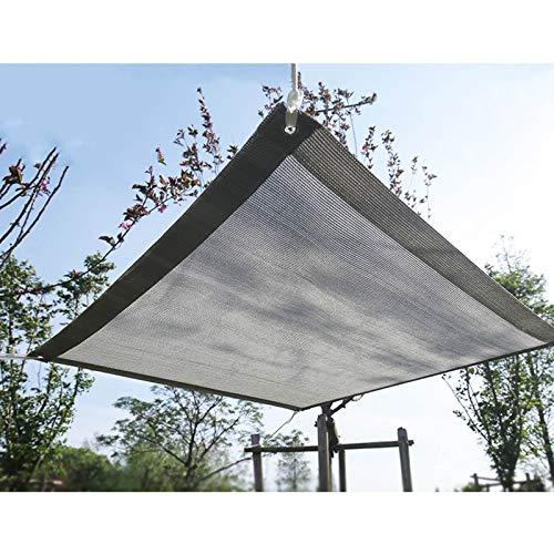 YLL Sunblock Filet D'ombrage pour Serre Résistant Aux UV 90% Respirant Protection Solaire Tissu D'ombrage pour Fleurs Et Plantes Grise,1x1m(3 * 3ft)