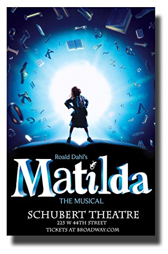Matilda The Musical Poster Broadway Promo 11 x 17 inches Roald Rahl Schubert Theatre