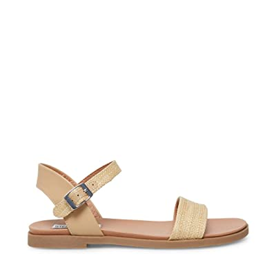 Steve Madden Dina Flat Sandals (Natural Raffia) Women