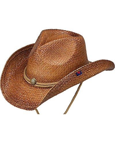 Peter Grimm Ltd Unisex Round Up Straw Hat Brown One Size