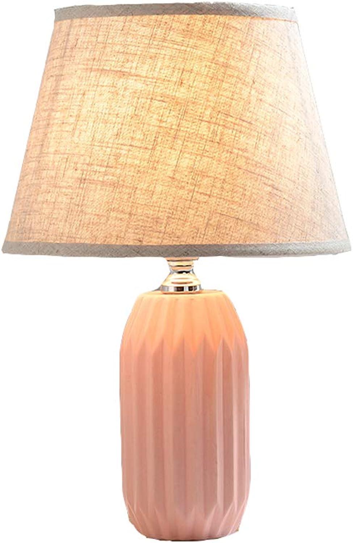 Rosa keramische keramische keramische Tischlampe Schlafzimmer Nachttischlampe B07K5B3FJB | Qualitätsprodukte  c69eb0