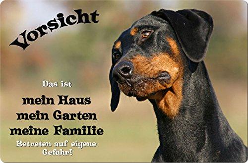 +++ DOBERMANN - Metall WARNSCHILD Schild Hundeschild Sign - DBM 02 T1