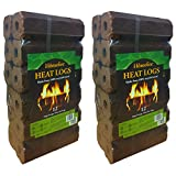 Homefire High Energy Ultra Dry Heat Logs Open Fire Log Eco Wood Fuel (24 Heat Logs)